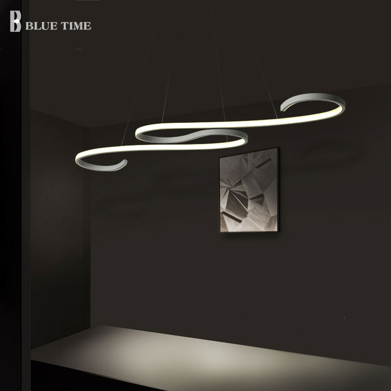 Modern LED Kitchen Chandelier Hanging Lamp For Living room Dining room Luminaires dec Led Chandelier Lighting Black/White LightModern LED Kitchen Chandelier Hanging Lamp For Living room Dining room Luminaires dec Led Chandelier Lighting Black/White Light