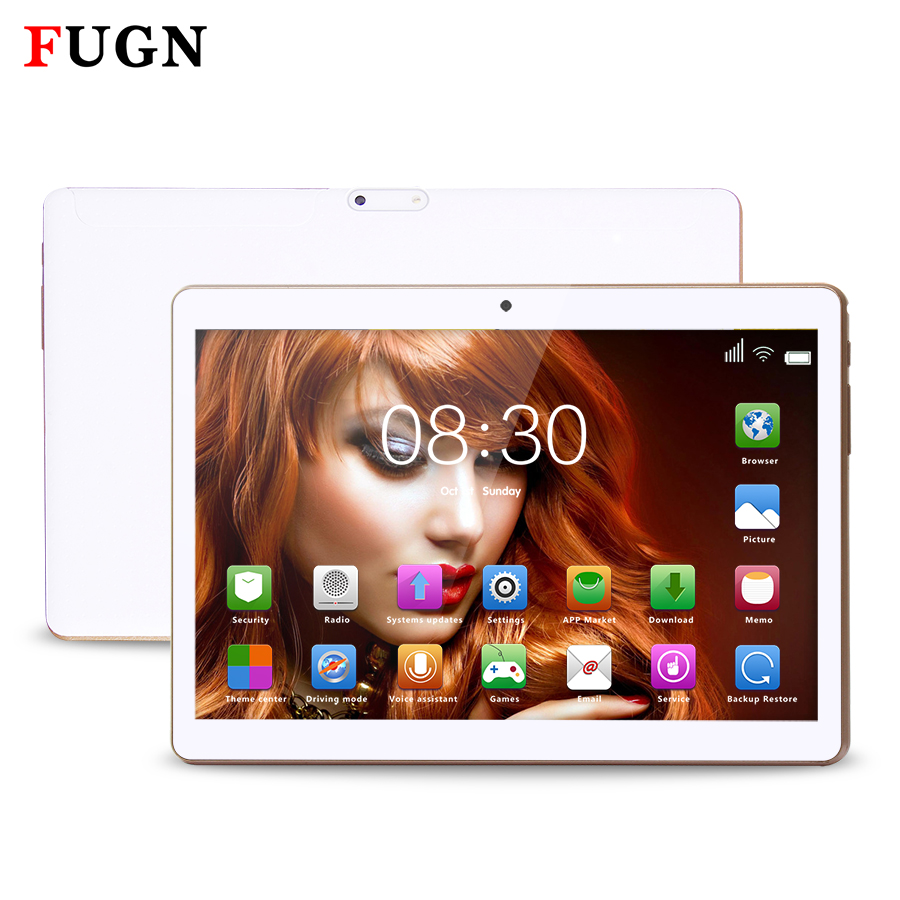 FUGN 10 inch Original Android Tablet 6.0 3G Phone Call Tablet Octa Core 4GB RAM GPS Wifi 1920*1200 IPS for Kids with Keyboard