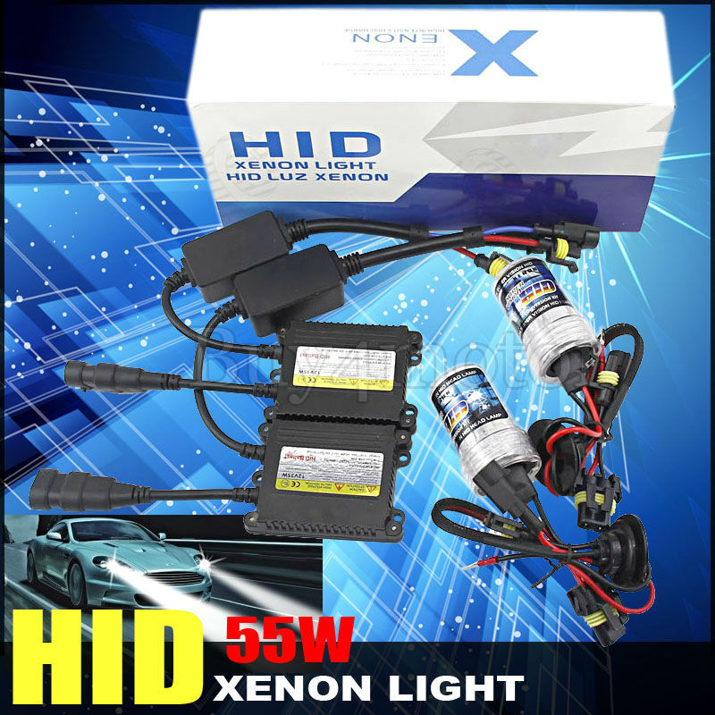 New Arrival 55W Car HID Xenon Conversion Kit Slim Ballast Bulb H1 H3 H7 H8 H9 H10 9005 3000K-12000K Headlight lamps Single Beam 55w silver hid xenon kit slim ballast 880 4300k replacement headlight new [cpa248]