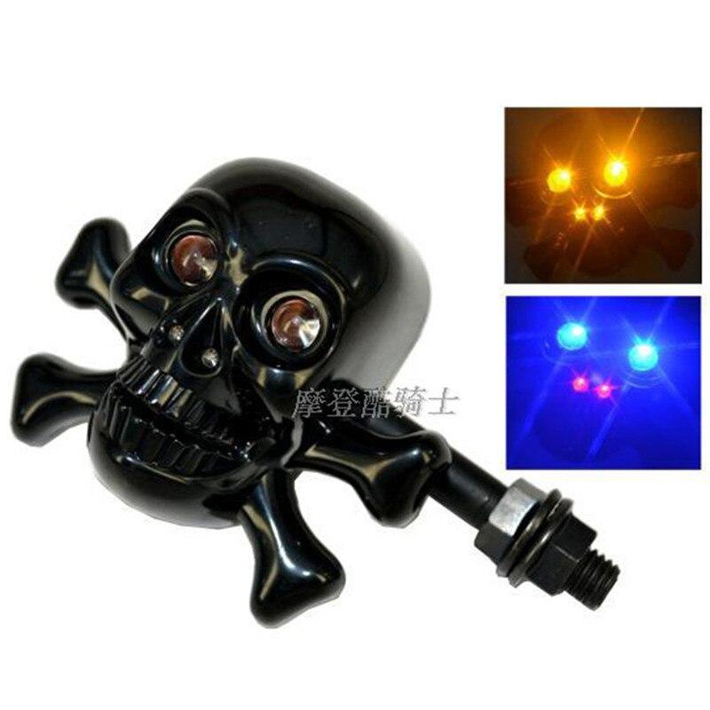 Motorcycle LED Turn Signal Light Motorbike Indicators Lamp Flasher Motorbike LED Skull Trun Light Amber Lamp Motorcycle parts