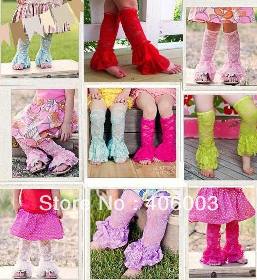 New free shipping 10pcs/lot girls lace ruffle leg warmer