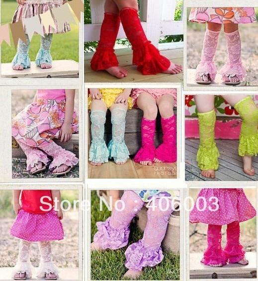 New free shipping 10pcs/lot girls lace ruffle leg warmer