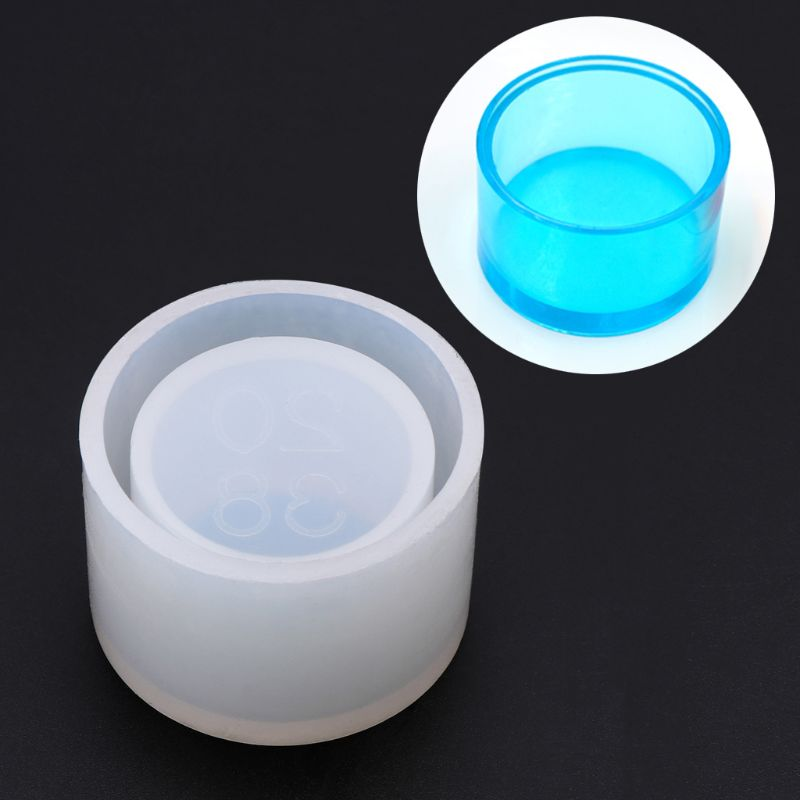 Round Small Flowerpot UV Resin Silicone Mould Storage Box Cake DIY Handmade Baking Mold Epoxy Resin For Jewelry Making Gifts