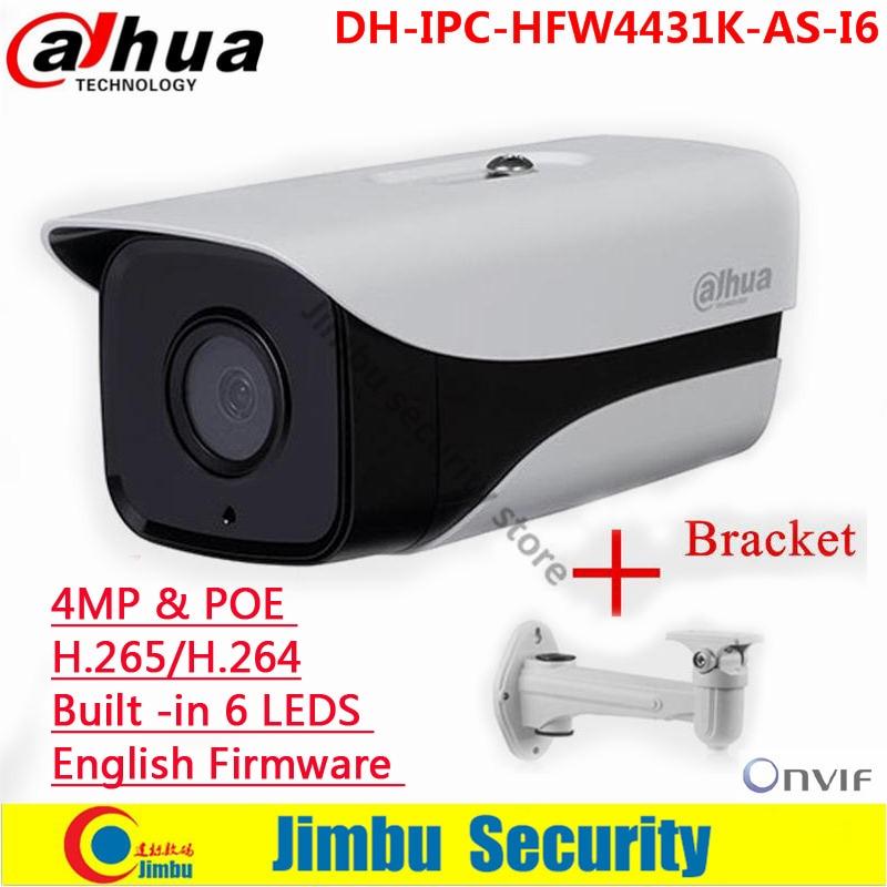Original Dahua IPC HFW4431K AS I6 4MP ip camera support POE SD Card slot Audio/Alarm 1/1 channel I/O IR Bullet camera|original dahua|dahua 4mp|ip camera - title=