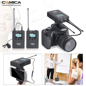 Image 5 - Wireless Lavalier Microphone System, Comica CVM WM200 UHF Wireless Lapel Mic for DSLR Camera, XLR Camcorders Video Recording