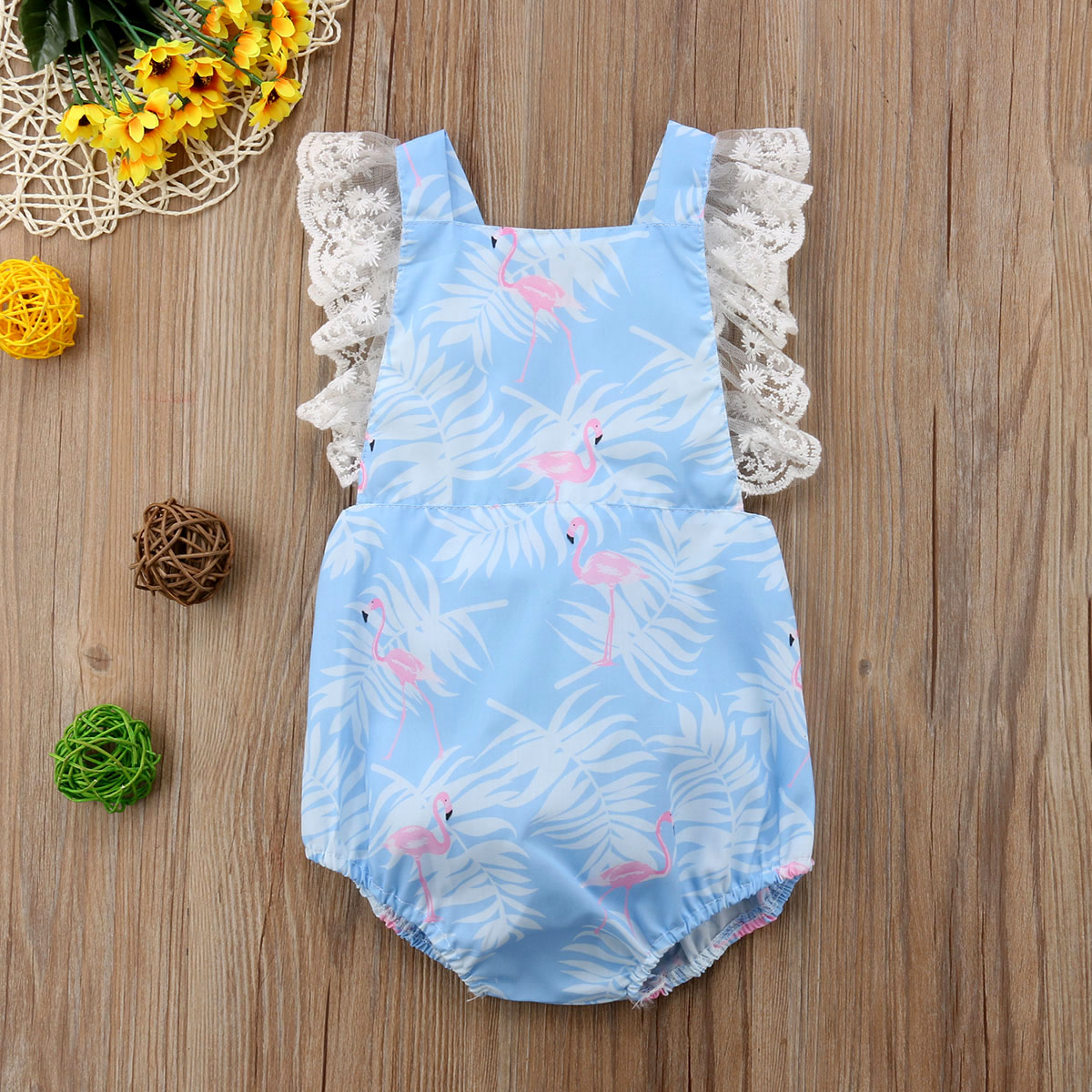 Cute Newborn Infant Baby Girl Cartoon Lace Bodysuit Jumpsuit Sunsuit Cotton Bbay Girls Clothes Summer Children Clothing 0-3T