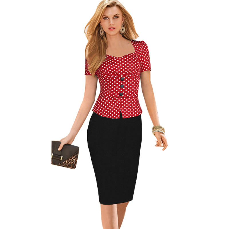 Polka Dot Womens Business Suits Professional Formal Office Suits