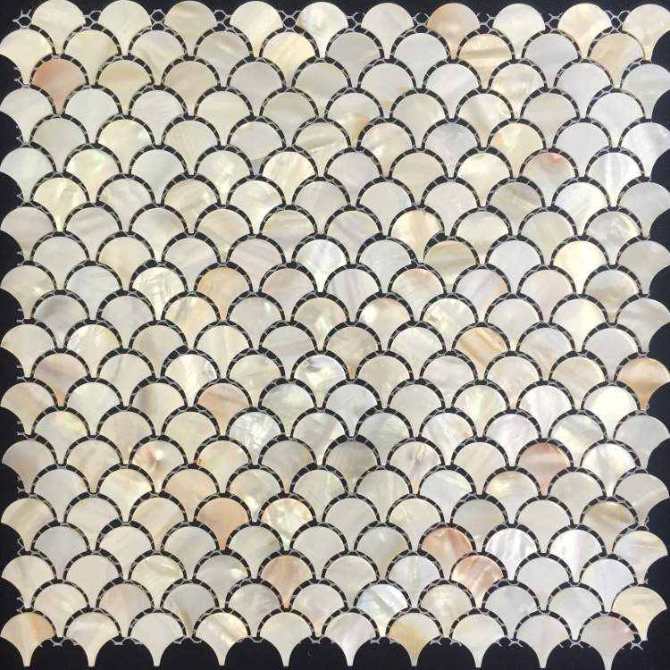 natural fish scale shell mosaic mother of pearl tiles. Black Bedroom Furniture Sets. Home Design Ideas