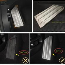 Yimaautotrims Left Foot Rest Pedal Panel Cover Trim Fit For Honda CR-V CRV 2017 2018 2019 / Stainless Steel Interior Mouldings for honda crv cr v 2017 2018 stainless steel inner