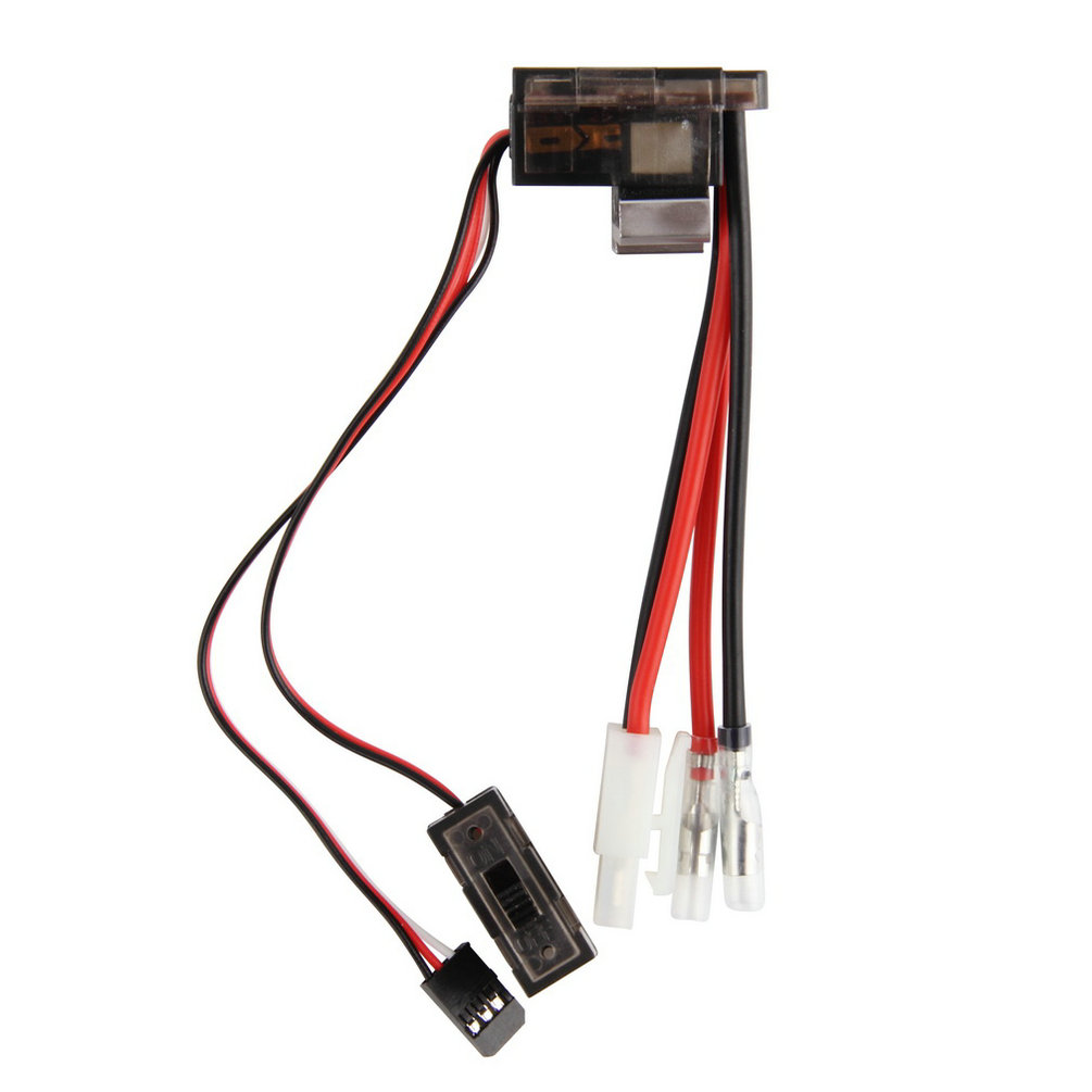 1pc NiMH 4.8 - 7.2V 320A Brushed Electric Speed Controller Brush ESC For RC Car boart 1/8 1/10 Truck Buggy New Sale 320a 7 2v 16v high voltage esc brushed speed controller for rc car truck boat