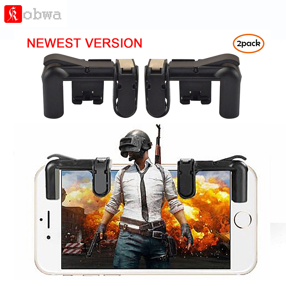 Kobwa Mobile Game Controller for PUBG Fire Button Aim Key for Rules of Survival Smart Phone Gaming Shooter Touch Controller