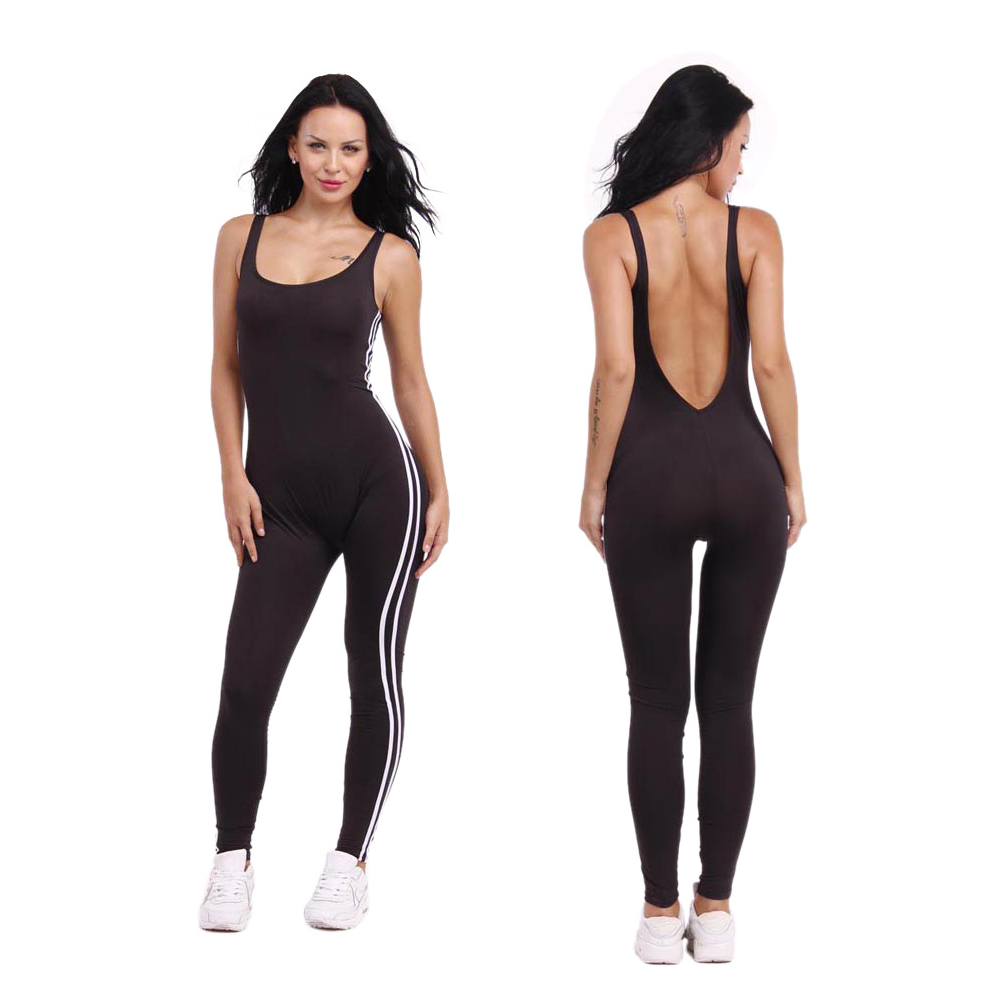 c0c64d0f2322 Gamiss New Summer Sport Yoga Set Sexy U-neck Backless Women Closed-Fitting Jumpsuit  Gym Running Sport Wear Suit Workout Clothes