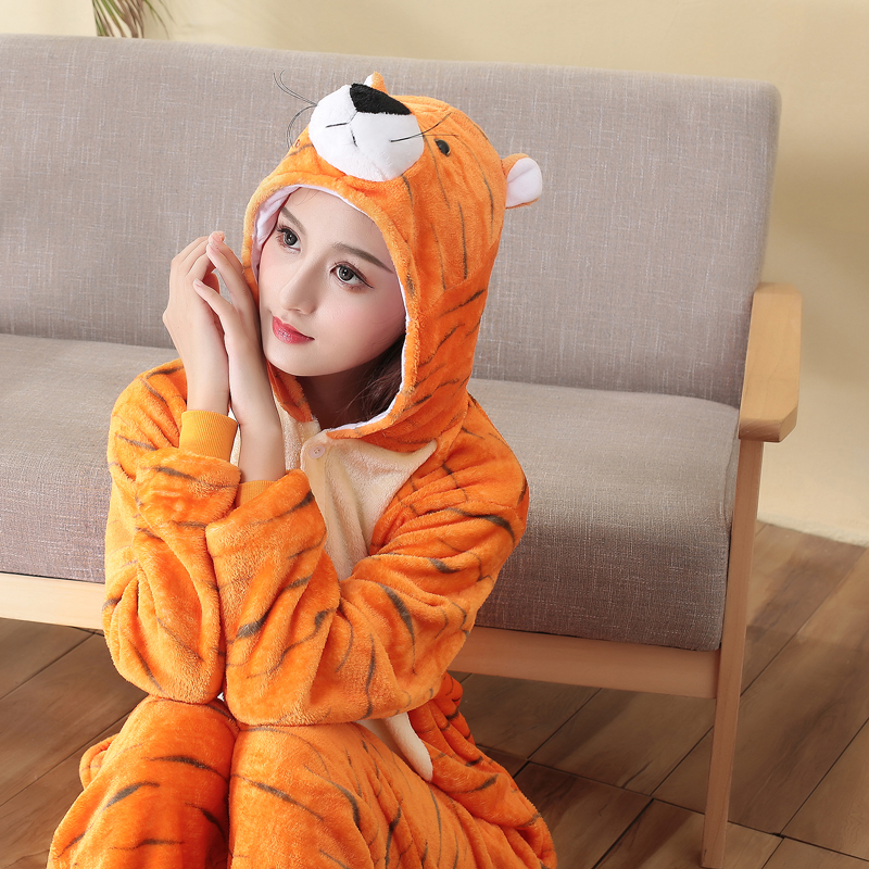 adult Halloween onesie tiger sleepwear