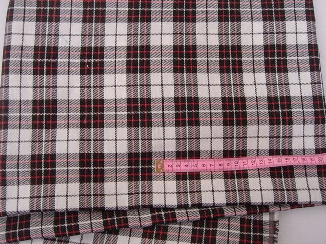 wholesale F107n3 White with Red Shiny Stripe Lattice Fabric cloth For Dress Shirt Clothings