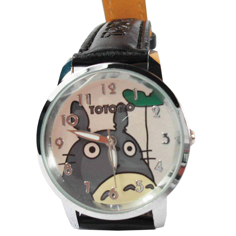 Hot Anime My Neighbor Totoro Watch Hayao Miyazaki Wrist Watch Collectible Toy Gift Kid 1set miyazaki hayao my neighbor anime totoro figure totoro mei fairy dust resin action figure toy gifts for garden home decor