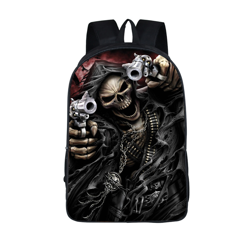 Anime School Bag Skull Backpack For Teenage Boys Cartoon School Bags Backpacks Dragon Puppy Backpack Children Fashion Book Bag pirates of the caribbean jack sparrow 3d print mens shoulder backpack skull heads student children school bags for boys book bag