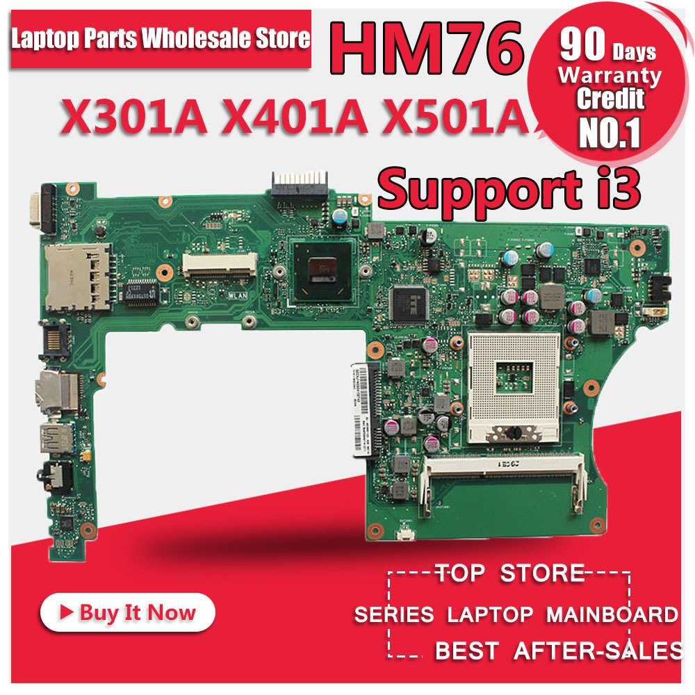 X301A X401A X501A laptop motherboard for ASUS support CPU I3 I5 tested Ok and Top quality