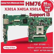 X301A X401A X501A laptop motherboard für ASUS unterstützung CPU I3 I5 getestet Ok und Top qualität auf lager