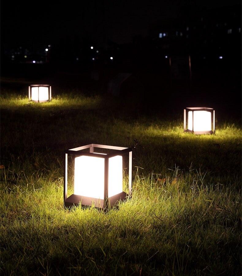 ao ar livre villa paisagem cerca pólo gramado bollards luz