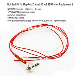 DIY gorący koniec zestaw 0.4mm dysza 30mm wytłaczarki gardła 12V 40W grzejnik termistor aluminiowy blok grzewczy dla Anet A2 A8 3D drukarki