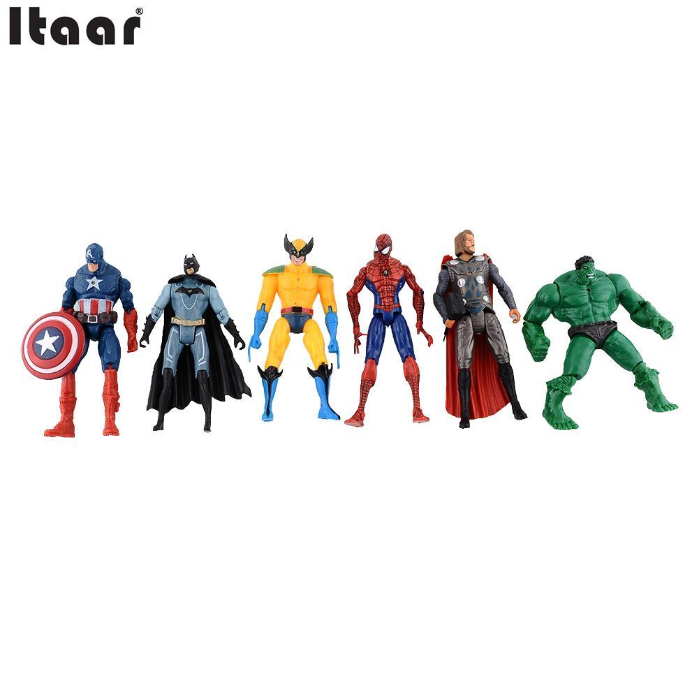 online get cheap hulk animation aliexpress com alibaba group 6pcs marvel the avengers super hero hulk captain batman figure doll action kids children toy home decor gift drop shipping