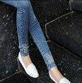 Высокое качество! 2017 материнства мода заклепки джинсы весной и летом высокой упругой бисером джинсовые брюки длинные карандаш живота брюки