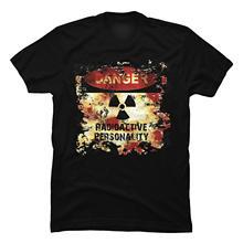 LVTIANRAN Men's Im Radioactive Funny Graphic T Shirt Casual Fitness Men T Shirts Summer Short Sleeves T-Shirt Fashion