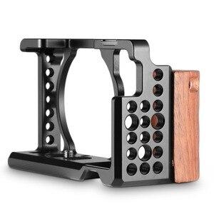 Image 4 - Klatka operatorska SmallRig a6300 z drewnianym uchwytem do Sony A6000/A6300 zestaw klatek do kamer DSLR klatka ze stopu aluminium 2082