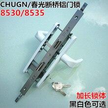 CHUGN/Роскошный многоточечный соединенный дверной замок сломанный мост алюминиевый створчатый дверной замок ручка Трансмиссия замок 8530/8535
