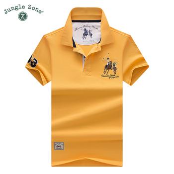 Wysokiej jakości topy i koszulki męskie koszulki Polo biznes mężczyźni marki koszulki Polo 3D haft skręcić w dół kołnierz mężczyzna polo koszula 9099 tanie i dobre opinie Krótki COTTON Na co dzień Stałe Szeroki zwężone Oddychające Aplikacje embroidery Kieszenie Przycisk JUNGLE ZONE
