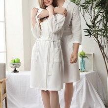 Phụ nữ Thấm Hút Nước Tắm Áo Dây Chắc Chắn Bánh Quế Áo Choàng Tắm Spa Nhà Đầm Váy Ngủ