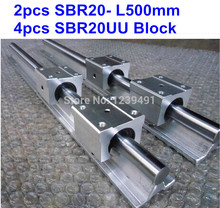 2pcs SBR20 L500mm linear guide + 4pcs SBR20UU block cnc router
