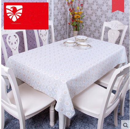 PASAYIONE Creative Lace Table Covers Home Dining Room Decoration Oilproof PVC Tablecloth ...