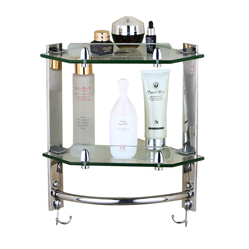 European bathroom glass shelf ,wall mounted shelf ,stainless steel toilet tripod corner frame,bathroom accessories products