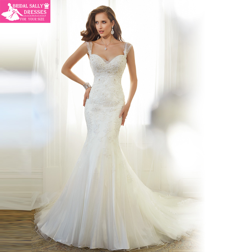 amazing lace wedding dress sweetheart sleeveless sexy backless beaded mermaid vintage wedding dress 2017 mtob1788