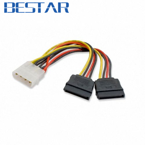 IDE to dual SATA II 15p Y Splitter 10cm hard disk Power supply Extension Cable sata ide adapter