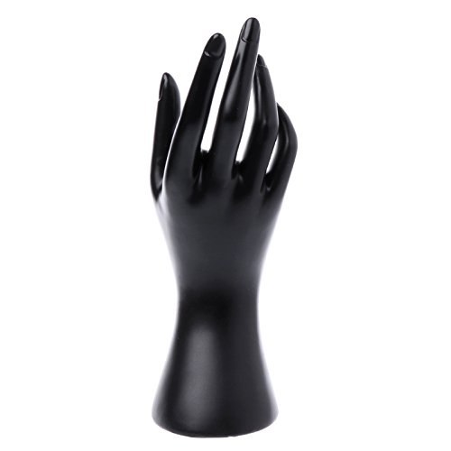 White 1 Pair Male Display Holder Mannequin Hand Jewelry Ring Bracelet Stand Rack