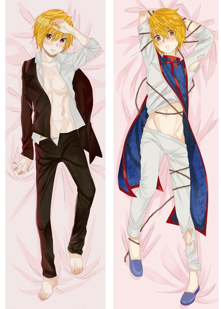 Dakimakura Hunter X Hunter Anime Killua & Kurapika Hugging Body Pillow Cover Case BL Anime Pillowcases Dropship Bedding Covers