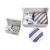 Conjunto de Laços dos homens Lenço Cufflink Poliéster Manta Listrada De lisle Entrevista Formal Comercial Gravata com Caixa de Presente Embalagem 17
