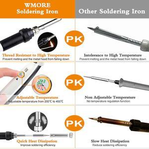 Image 3 - JCD Adjustable Temperature Soldering iron kit 110V 220V 60W Hand Solder welding tools soldering tips wire Desoldering Pump kits