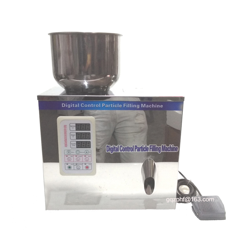 Semi-automatique machine de pesage grainluar poudre machine de remplissage équipement d'emballage 25g 50g 100g