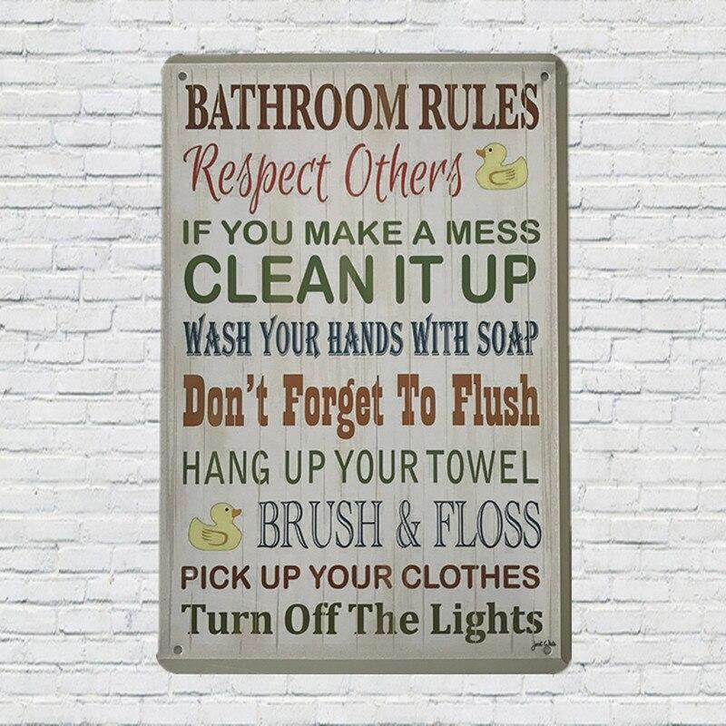 Online Get Cheap Bathroom Metal Signs