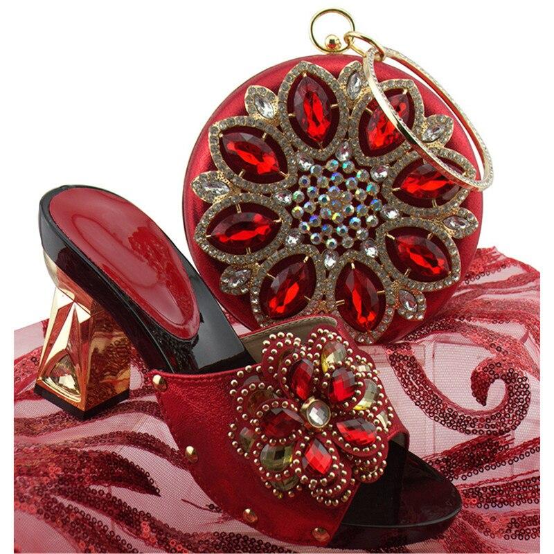 or Assortis Mode Nouveau rouge argent Chaussures pu Partie Pour Femmes Et À De Assortir Ciel Noir Le bleu Royal Les Pompes Designer Luxe 2018 Mariage Nigérian Sacs pourpre SYqwqABd