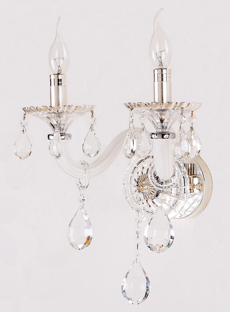 Wall sconce lamp swing lamps arm wall llight chandelier wall lights wall sconce lamp swing lamps arm wall llight chandelier wall lights romantic hallway stairs white candle k9 crystal 2 lights in led indoor wall lamps from aloadofball Gallery