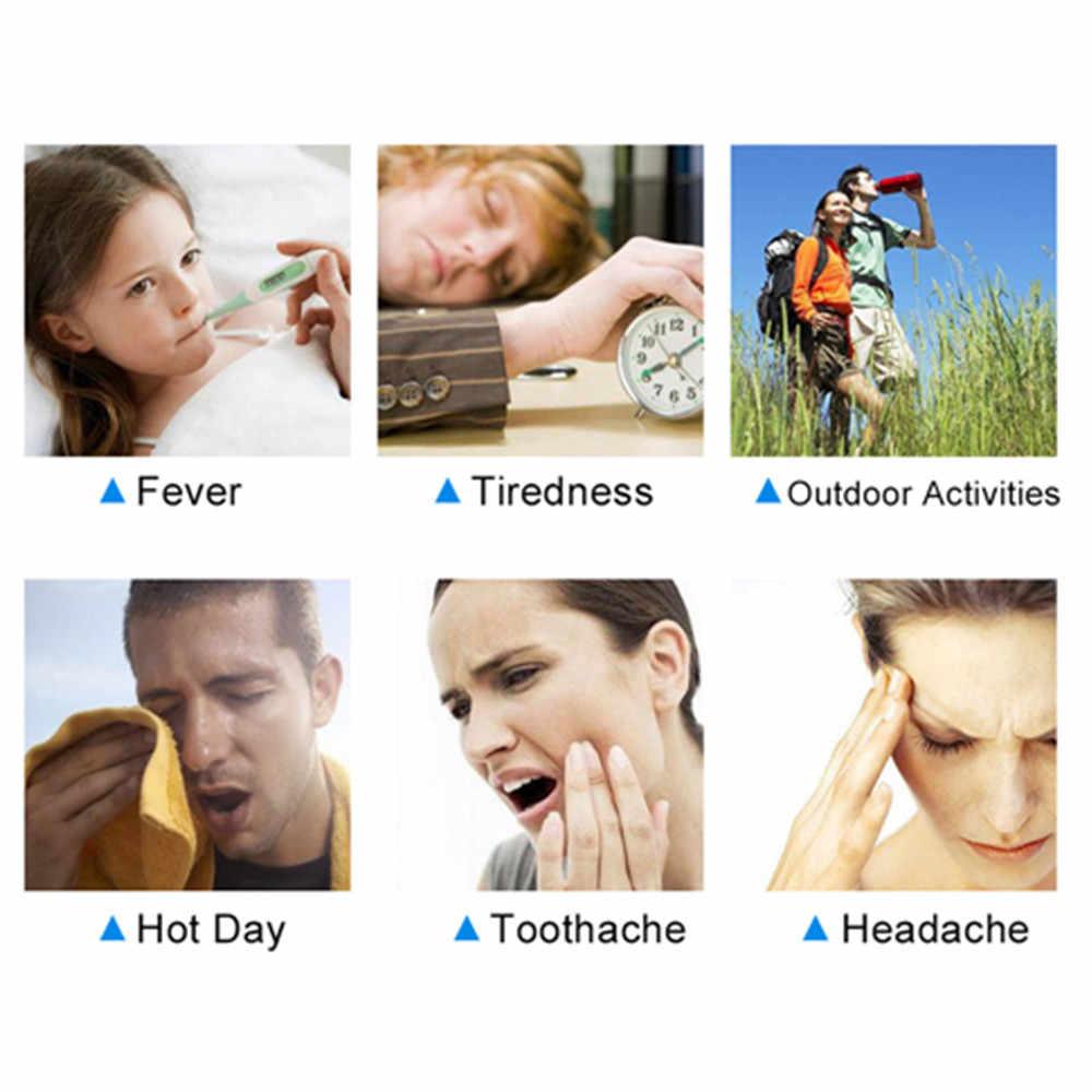 Ifory 12 штук/2 коробки охлаждающий гель пластырь для снятия напряжения для облегчения мигрень, головная боль, мышечная боль растяжения отлично подходит для детей