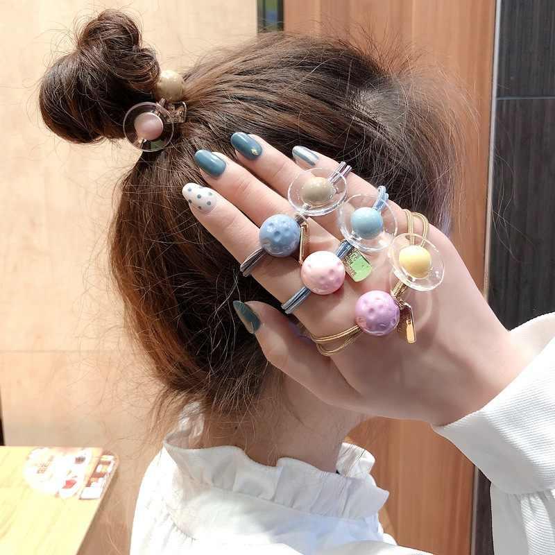 קוריאני תוספות שיער חבל יפני ילדה חמוד עניבת שיער עור גידים צמיד כפול שיער חבל שיער טבעת שיער קישוטים