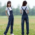 Primavera y Otoño Mujeres Casual Denim Mamelucos Peto Jeans Mono Mamelucos Rectos Jeans de Marca Más El Tamaño 4XL 5XL 6XL W041
