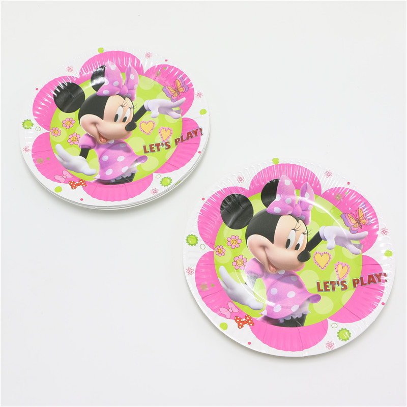 10pcs/lot Cartoon White Minnie children 7inch kids birthday party paper plate printing round plates Party Supplies new year on Aliexpress.com | Alibaba ...  sc 1 st  AliExpress.com & 10pcs/lot Cartoon White Minnie children 7inch kids birthday party ...