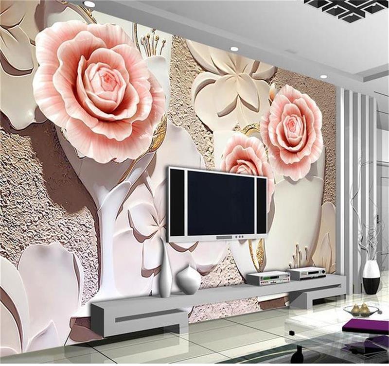 Kustom 3d foto wallpaper fresco ruang mural non woven ...