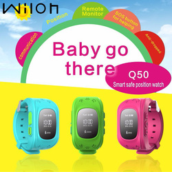 ساعة تعقب لتحديد المواقع للأطفال SOS الطوارئ مكافحة خسر سوار معصمه Q50 ساعة ذكية يمكن ارتداؤها الأجهزة OLED scree الأطفال
